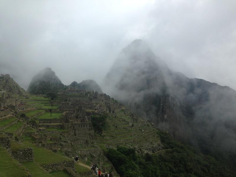 Machu Picchu Inca Trail Andes Fog
